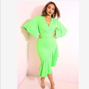 NWT Lime Green Fish Tail Dress